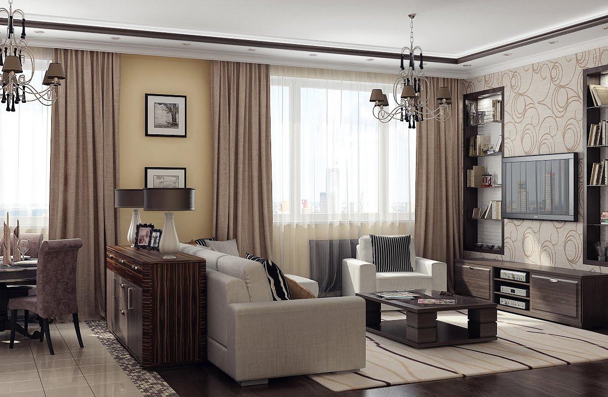 оформление интерьера гостиной под старину