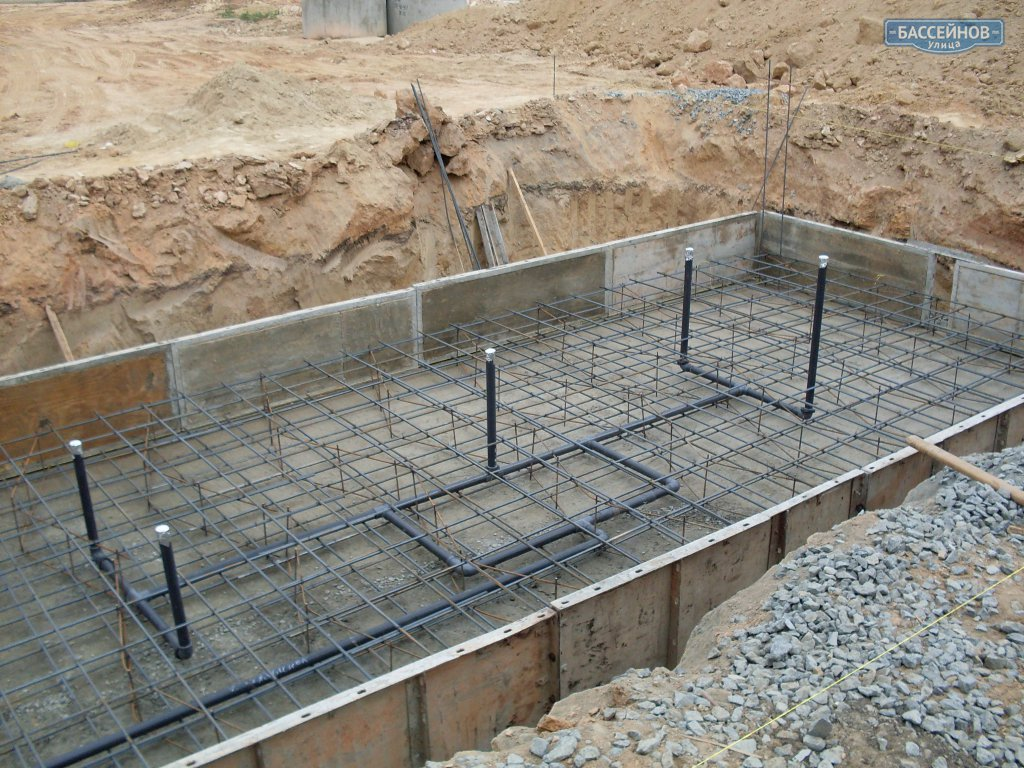 Бассейн своими руками бетонная чаша
