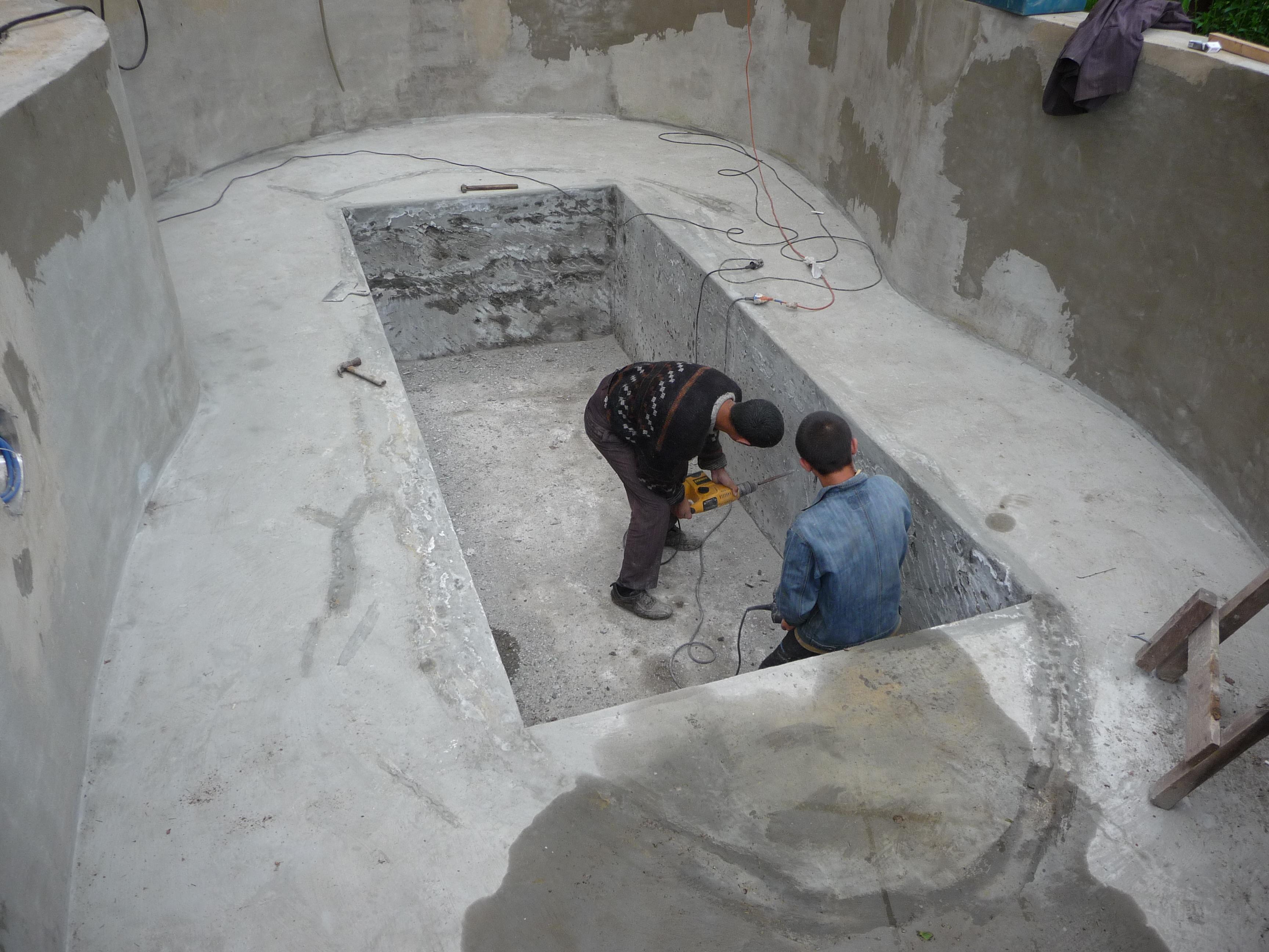 Бассейны из бетона