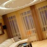 Освещение потолка в гостиной